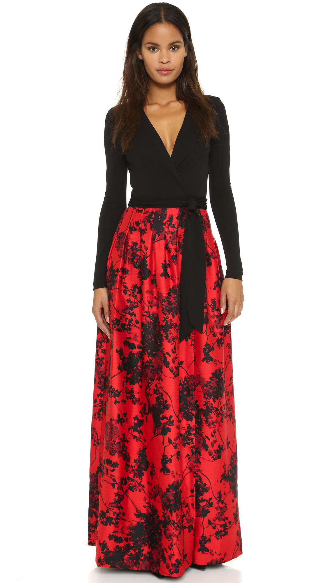 Lyst Diane Von Furstenberg Kailey Dress Black Floral