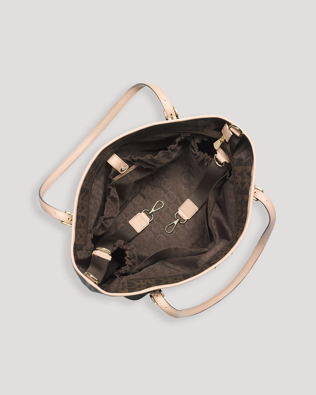 michael michael kors diaper bag jet set baby in brown lyst. Black Bedroom Furniture Sets. Home Design Ideas