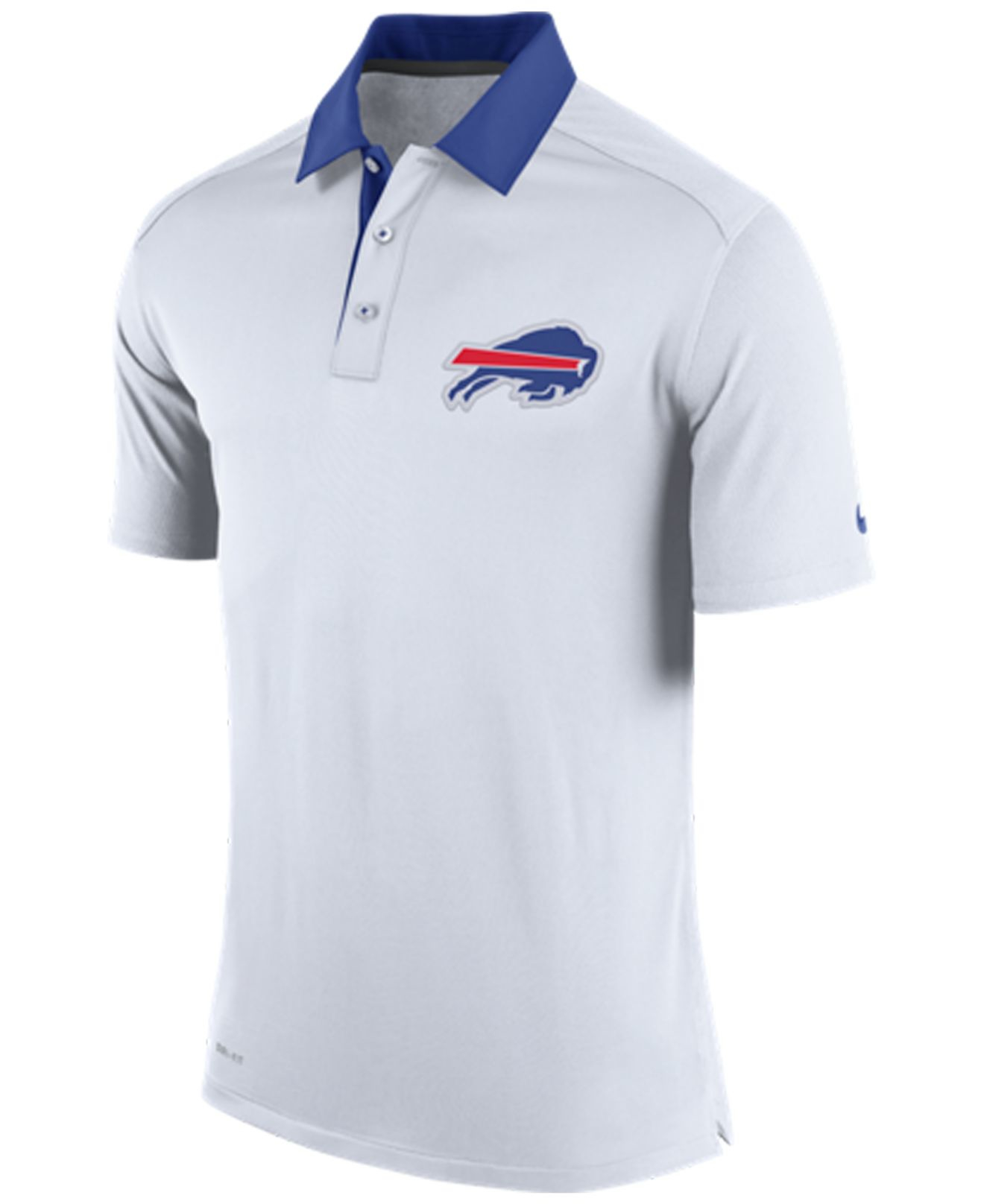 Nike men 39 s buffalo bills elite coaches polo in white for for Buffalo bills polo shirts
