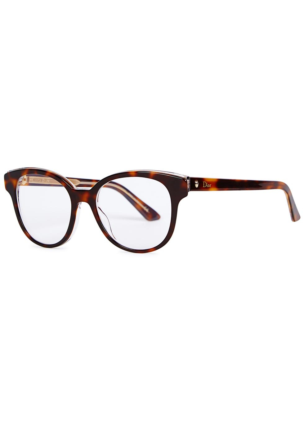 Dior Montaigne 1 Tortoiseshell Optical Glasses in Brown Lyst