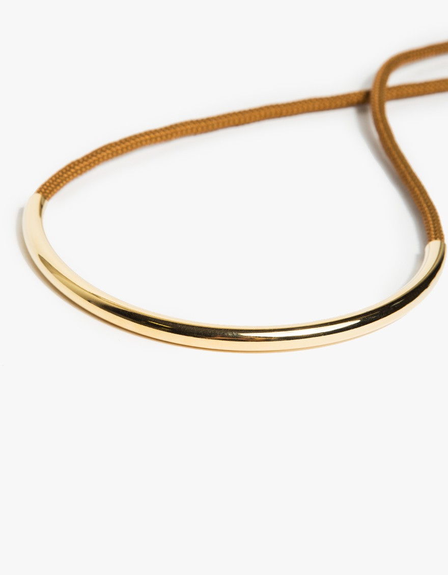 Lyst Maslo Jewelry Gold Standard Necklace in Metallic