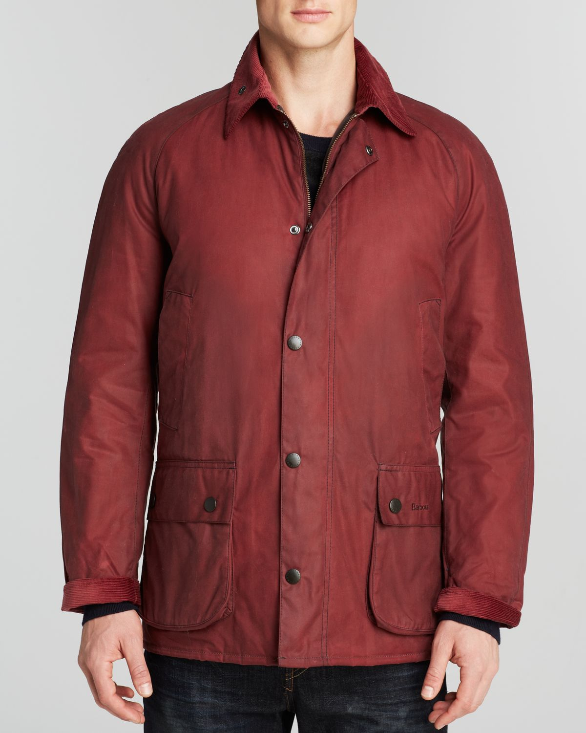 Lyst Barbour Ashtone Waxed Cotton Jacket In Red For Men