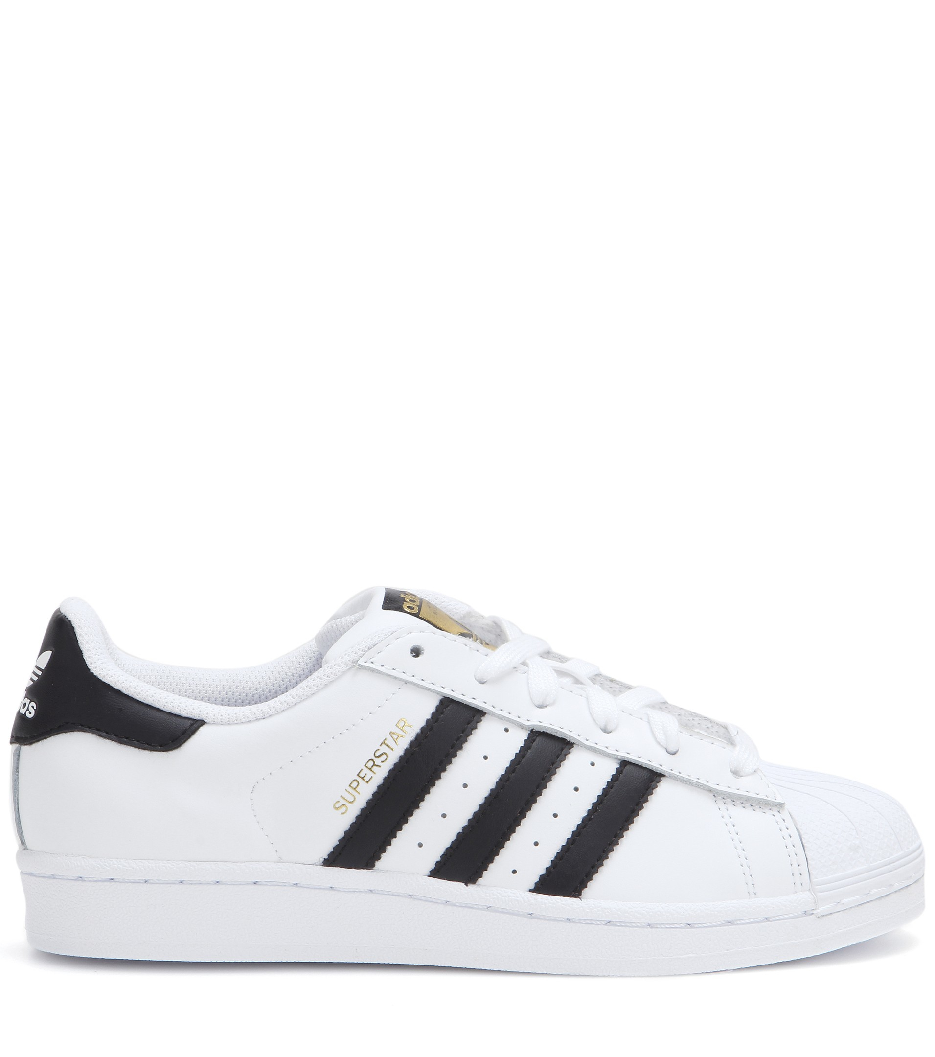 1afa8d4cf adidas Superstar Leather Sneakers in White - Lyst