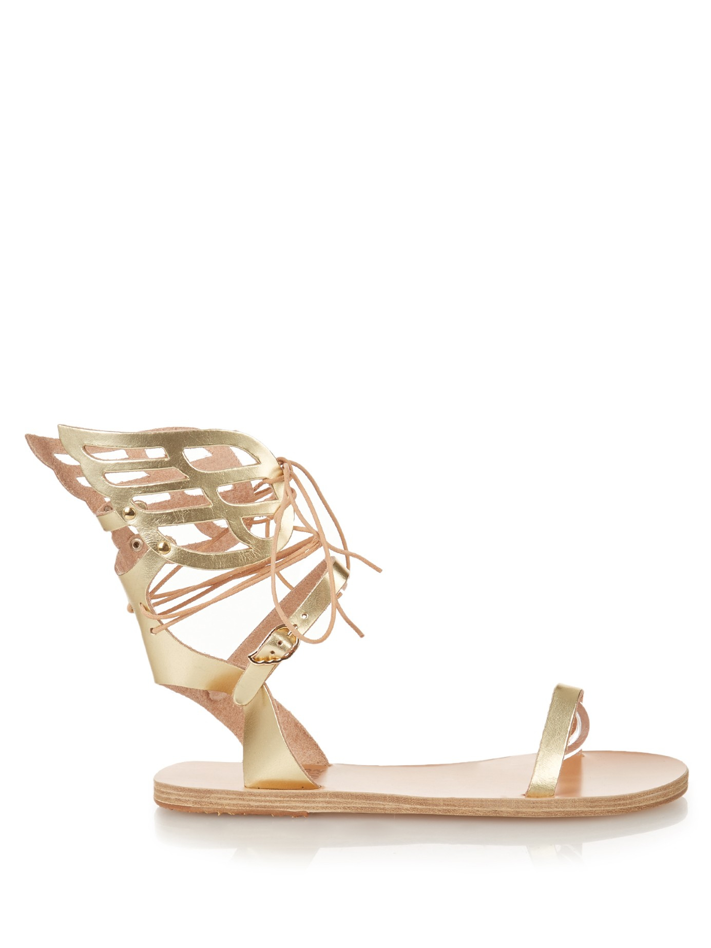 e761647f5be Lyst - Ancient Greek Sandals Ikaria Leather Sandals in Metallic