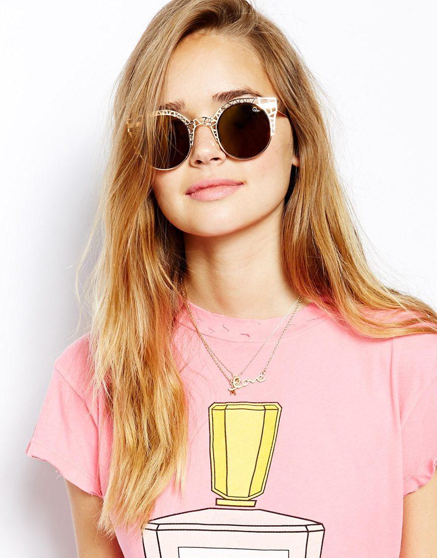 66f57d2e4e2 Lyst - Quay Fleur Sunglasses in Metallic