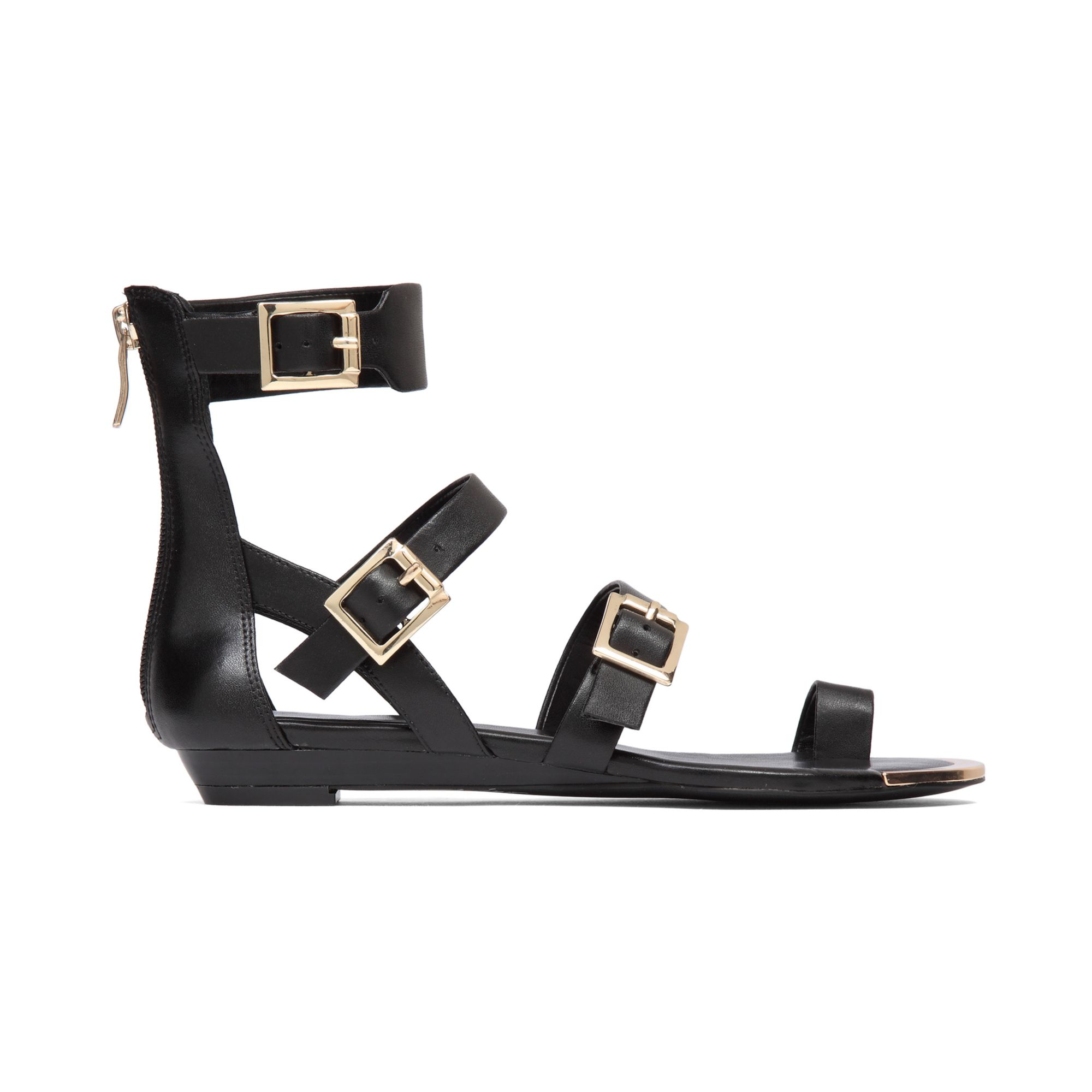 e88f76e26bb6 Lyst - BCBGeneration Archy Flat Sandals in Black