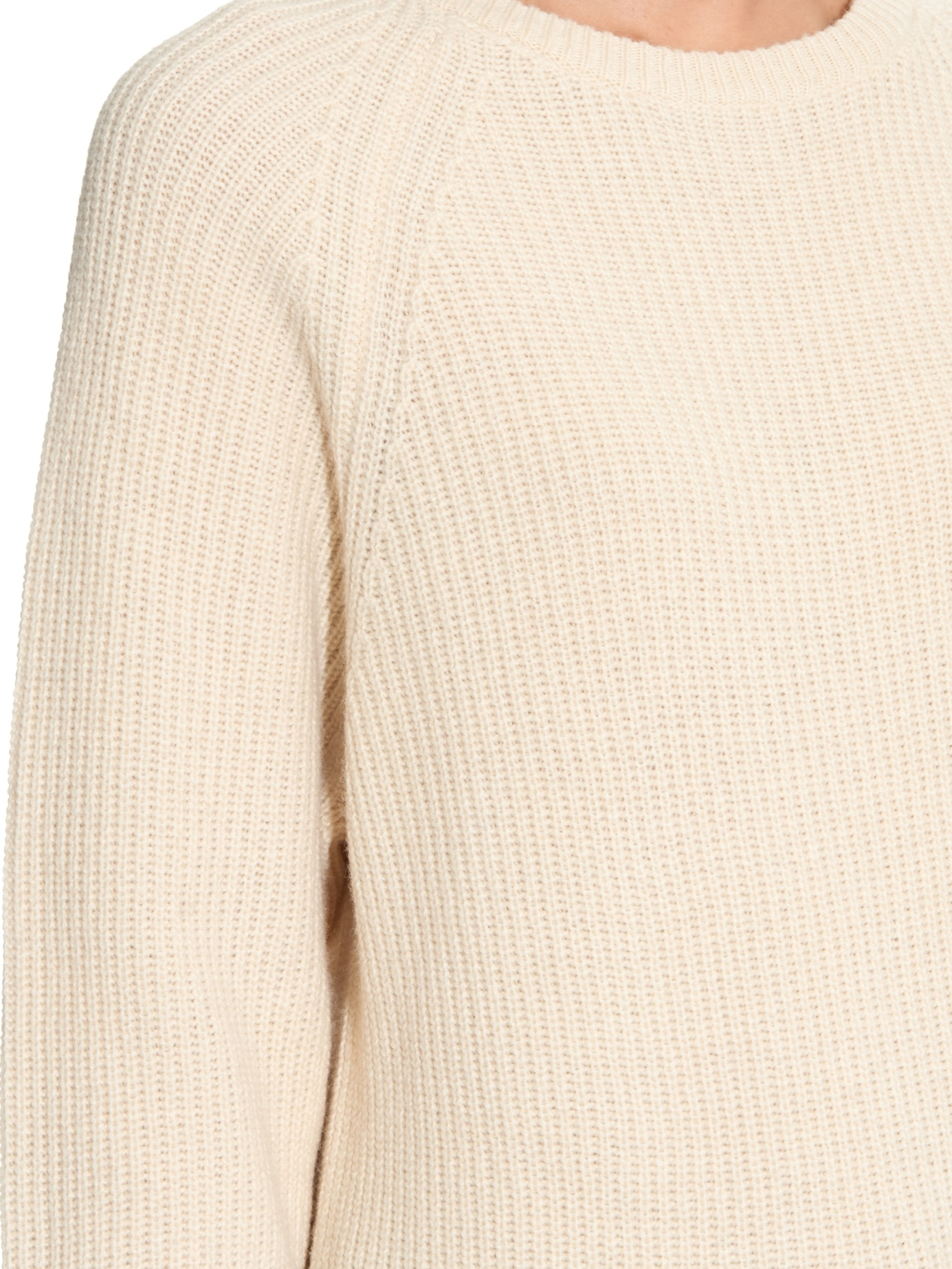 Lemaire Ribbed-knit Wool Sweater in Natural | Lyst