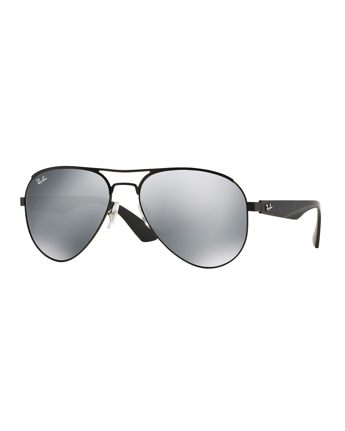 Ray ban aviator sunglasses with mirror lens in black for for Mirror sunglasses