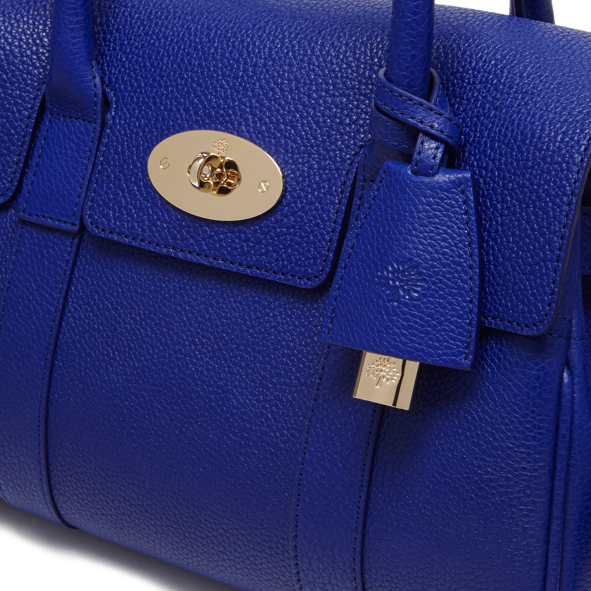 af550bba3ffd ... low price mulberry bayswater small grained leather bag in blue lyst  f9c4f 8fe48