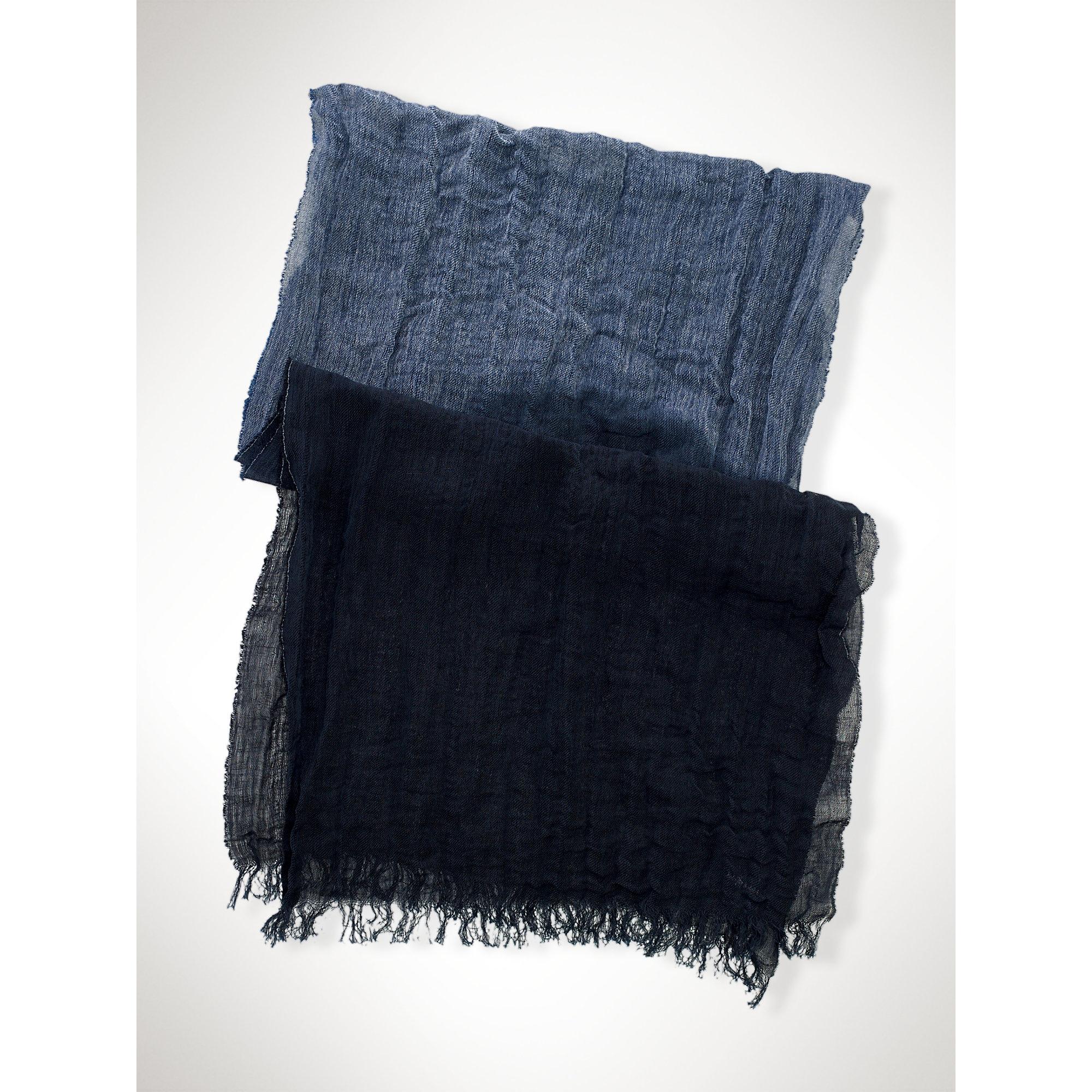 polo ralph wool merino hat scarf set in blue lyst