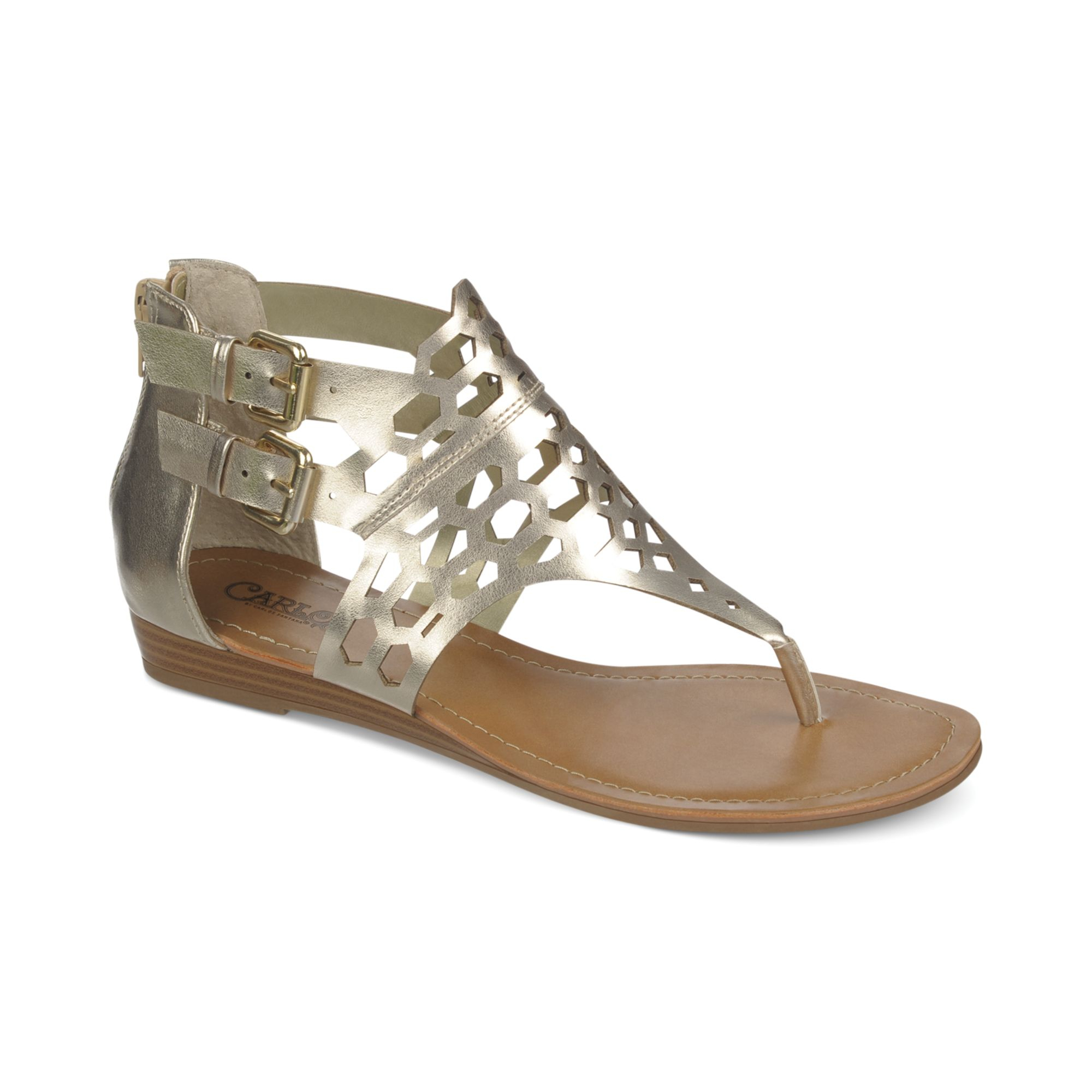 Carlos Womens Gold Shoes