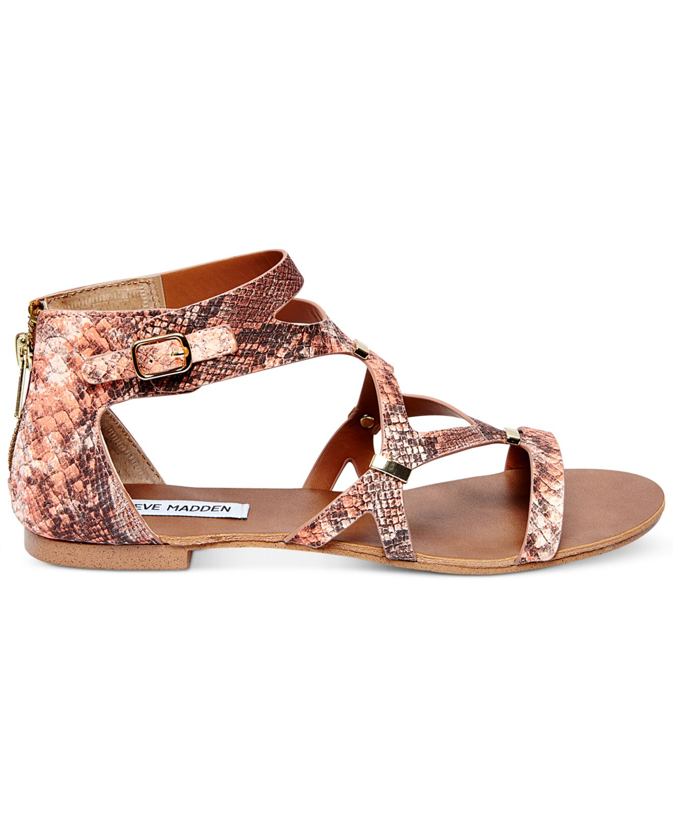 Lyst Steve Madden Comly Flat Sandals In Pink
