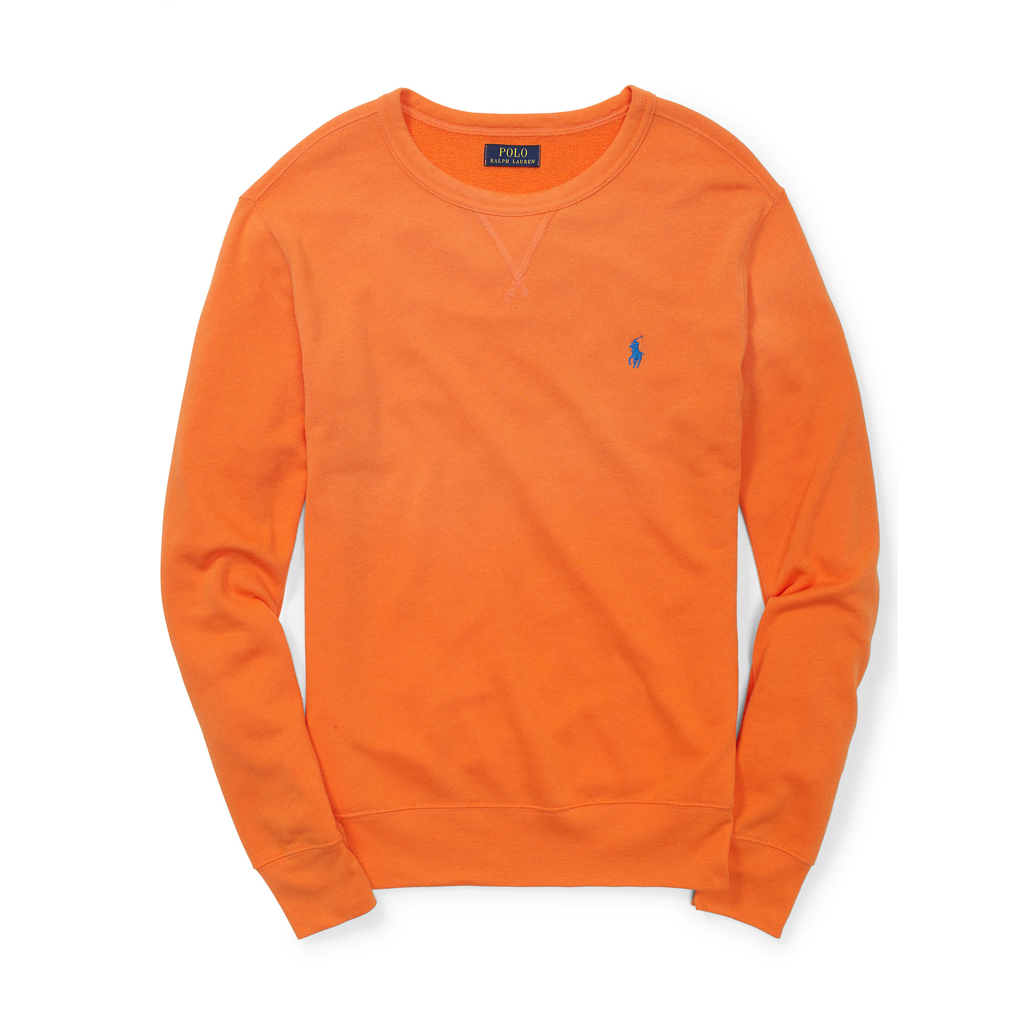 51a9a5f4f0d2 ... new zealand lyst polo ralph lauren french terry sweatshirt in orange  for men 6a090 fa0cc