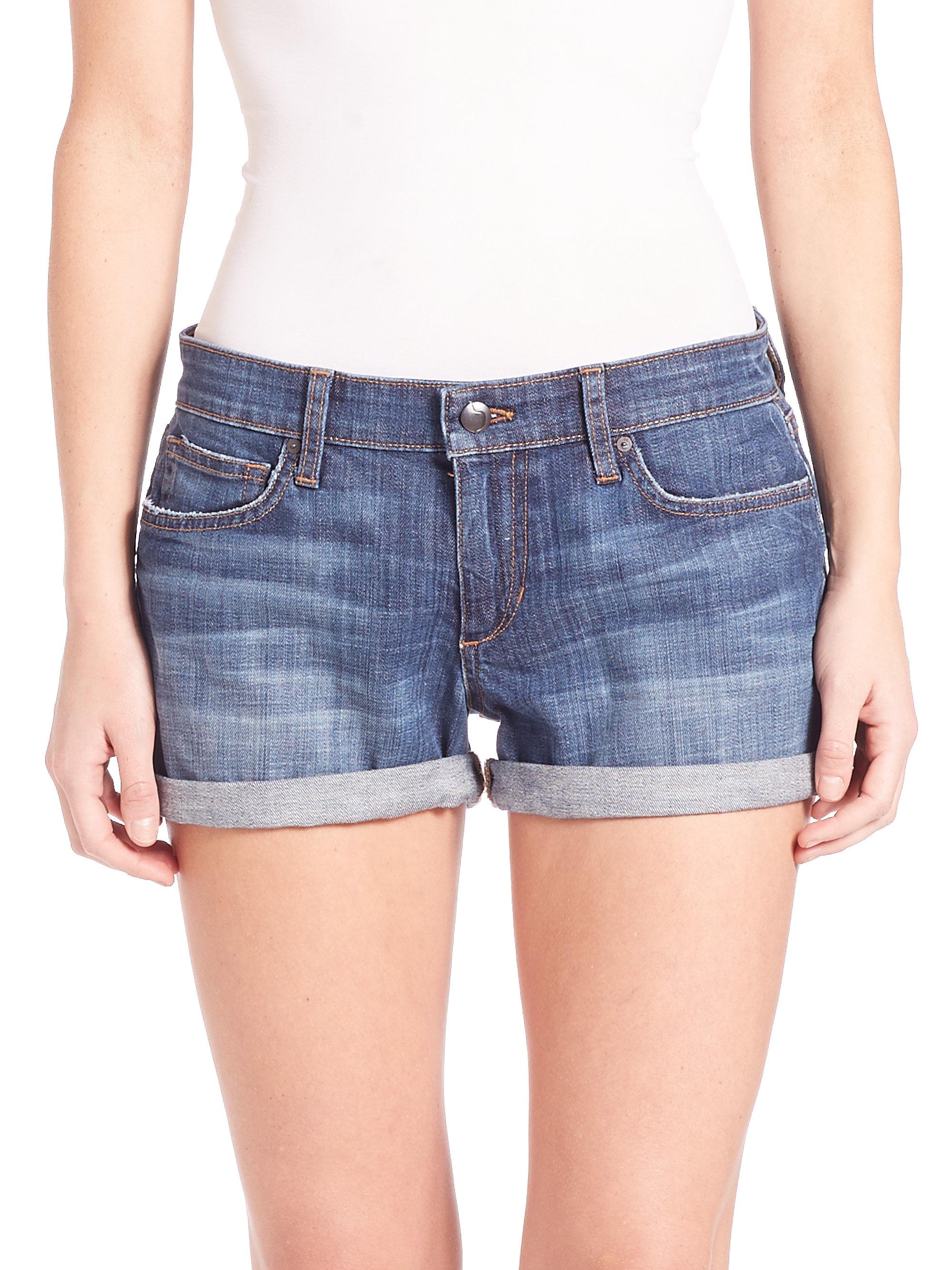 Joe's jeans Clean Rolled Jean Shorts in Blue | Lyst