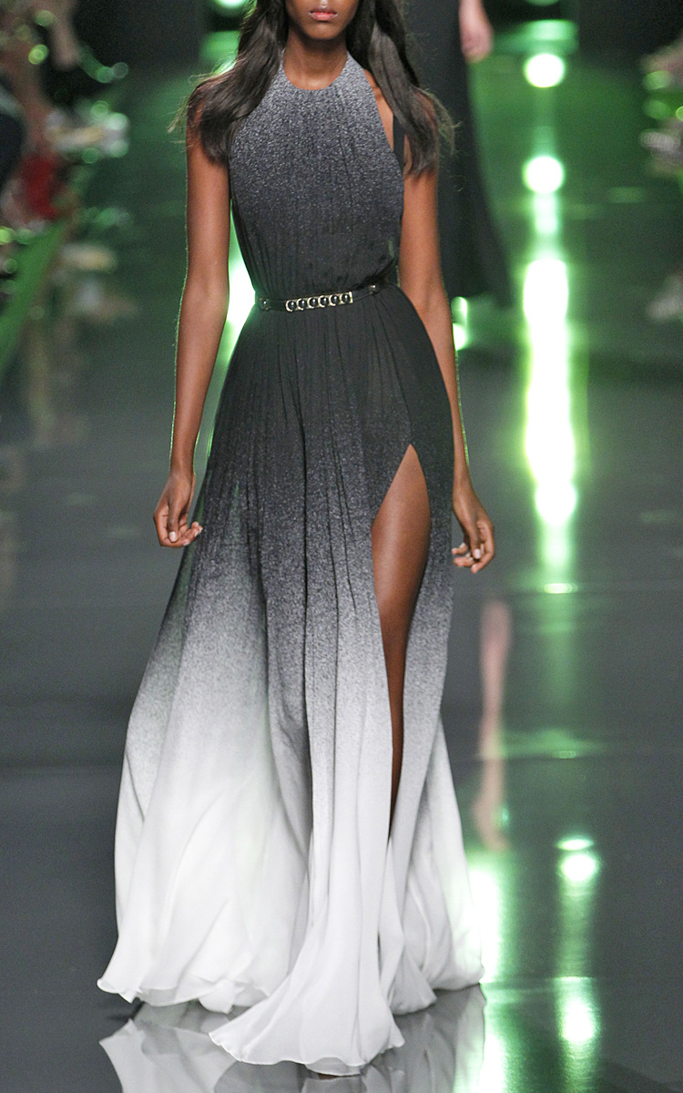 Elie Saab Ombre Silk Gown For Women In Black Lyst