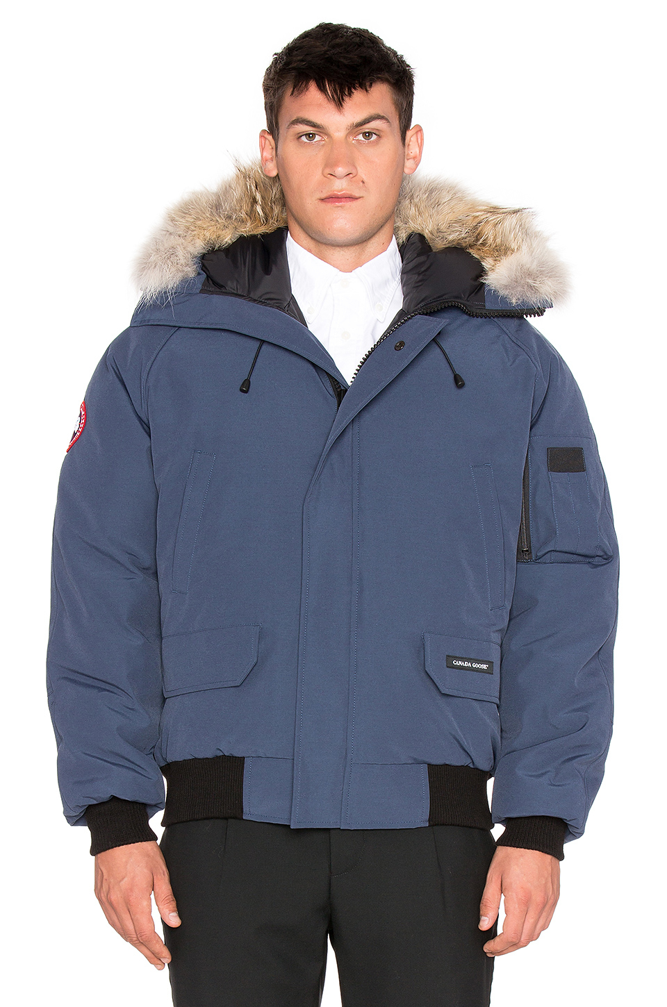 Canada Goose trillium parka outlet 2016 - Canada goose Chilliwack Coyote Fur Trim Bomber in Blue for Men ...