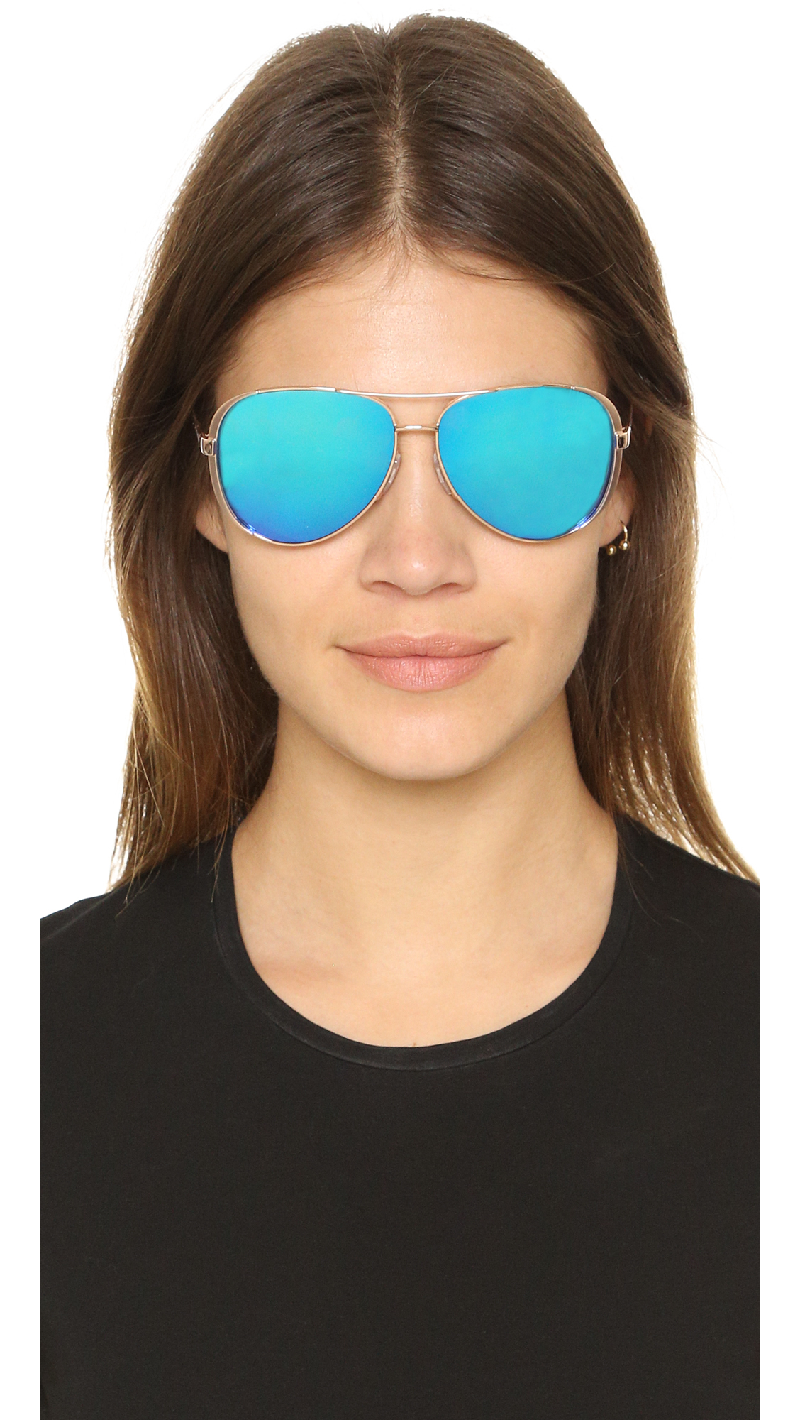 Michael Kors Chelsea Polarized Sunglasses In Metallic Lyst