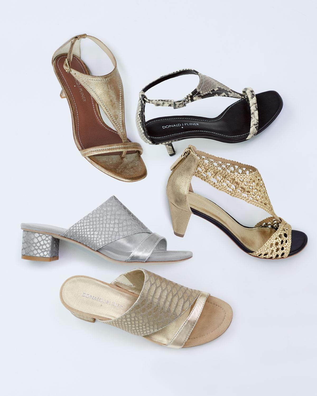 224c2d83a1 Donald J Pliner Monti T-Strap Kitten Heel Sandal in Gray - Lyst