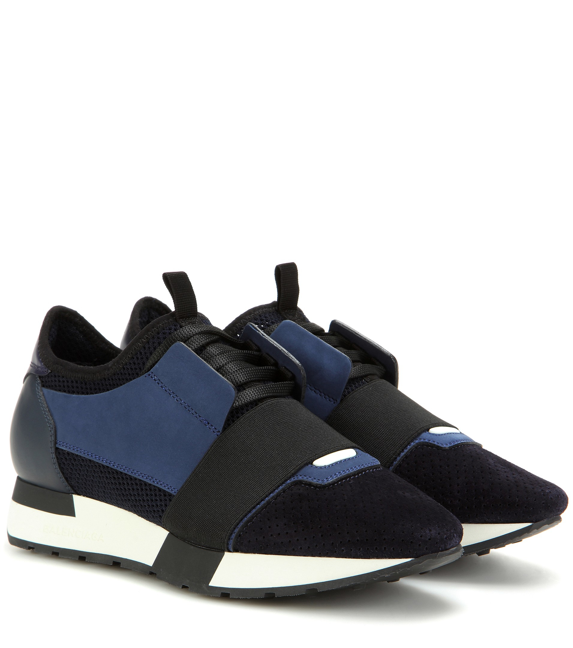 Lyst Balenciaga Race Runner Fabric Leather And Suede