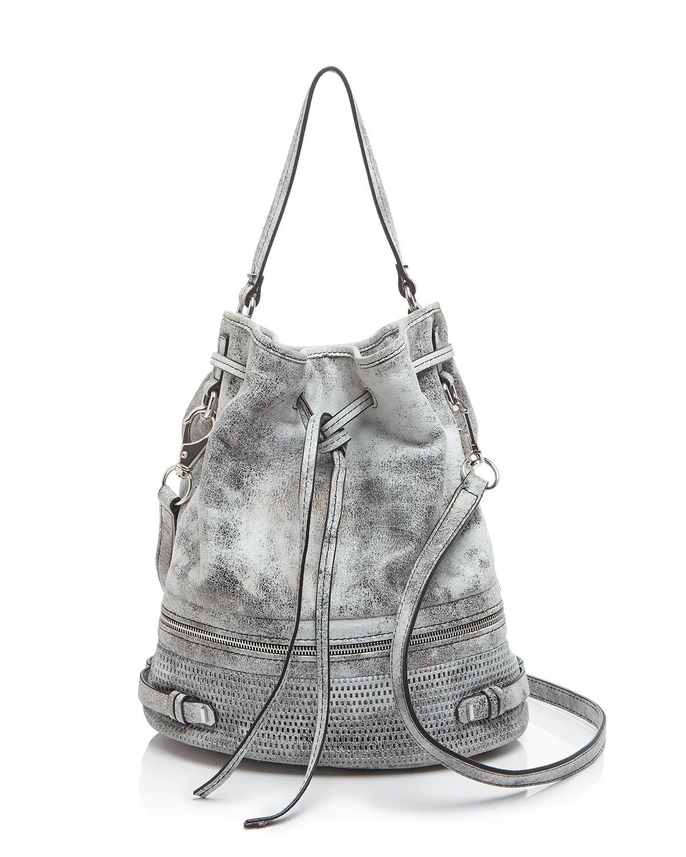 She   lo She   Lo Shoulder Bag - Silver Lining Drawstring Bucket ...