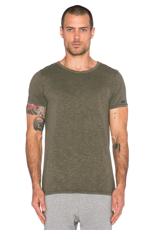 97d17e36 Scotch & Soda Cotton-Blend Crew-Neck T-Shirt in Green for Men - Lyst