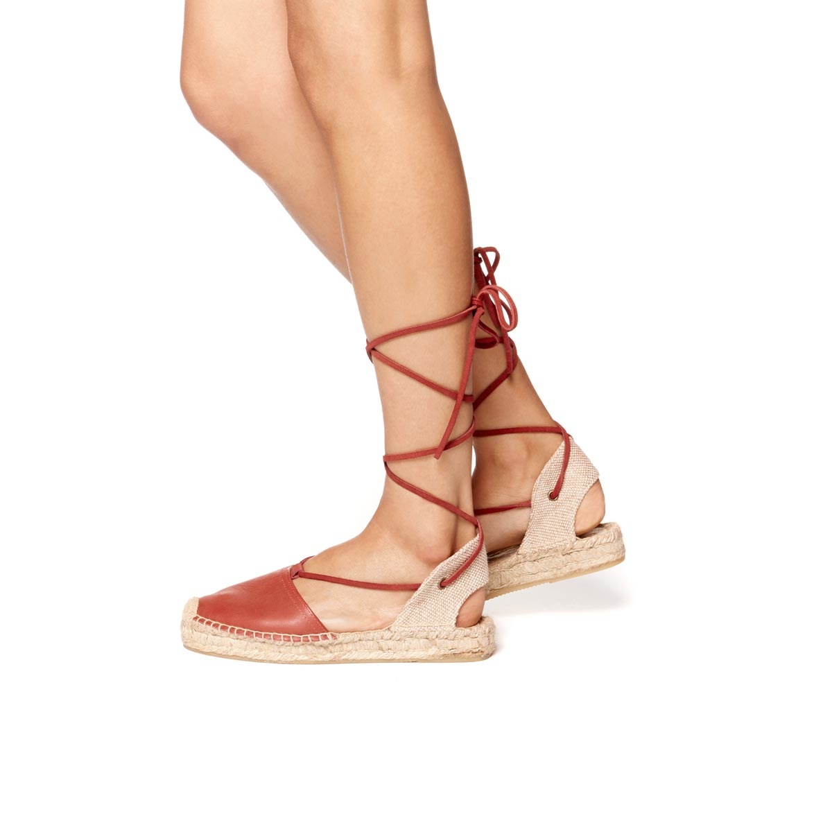8eb82ce44e05 Soludos Leather Platform Gladiator Sandal in Red - Lyst
