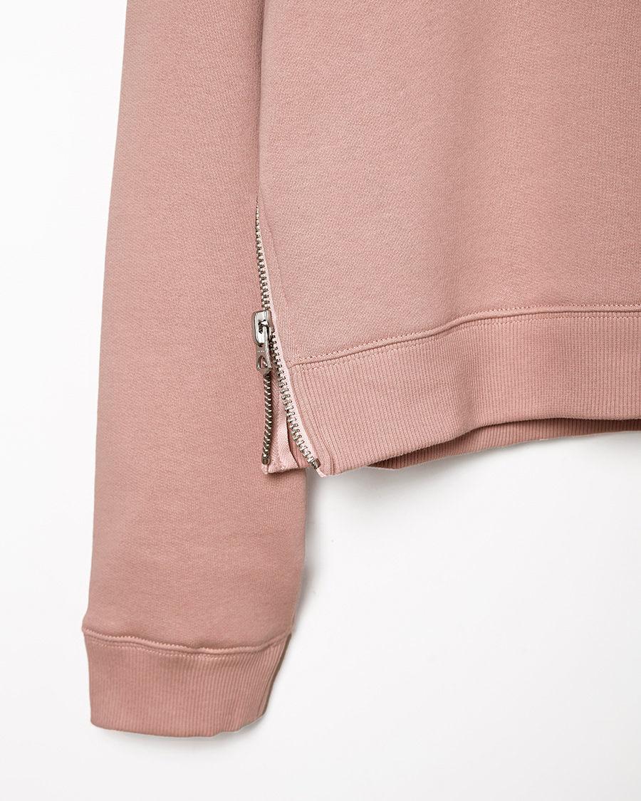 lyst acne studios bird fleece cropped pullover in pink. Black Bedroom Furniture Sets. Home Design Ideas