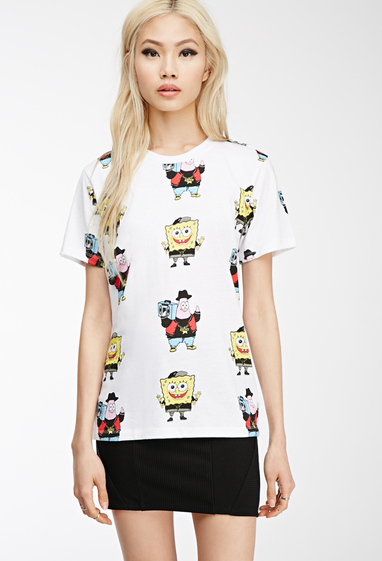 Lyst Forever 21 Spongebob X Mina Kwon Graphic Tee In White