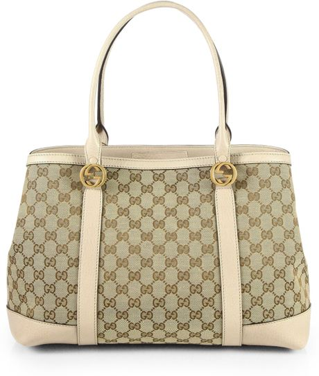 7134833639b Gucci Miss Gg Original Gg Canvas Tote in Beige (OATMEAL)