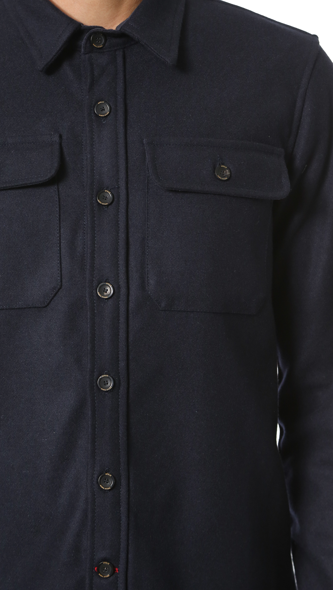 Apolis Wool Cpo Jacket In Navy Blue For Men Lyst