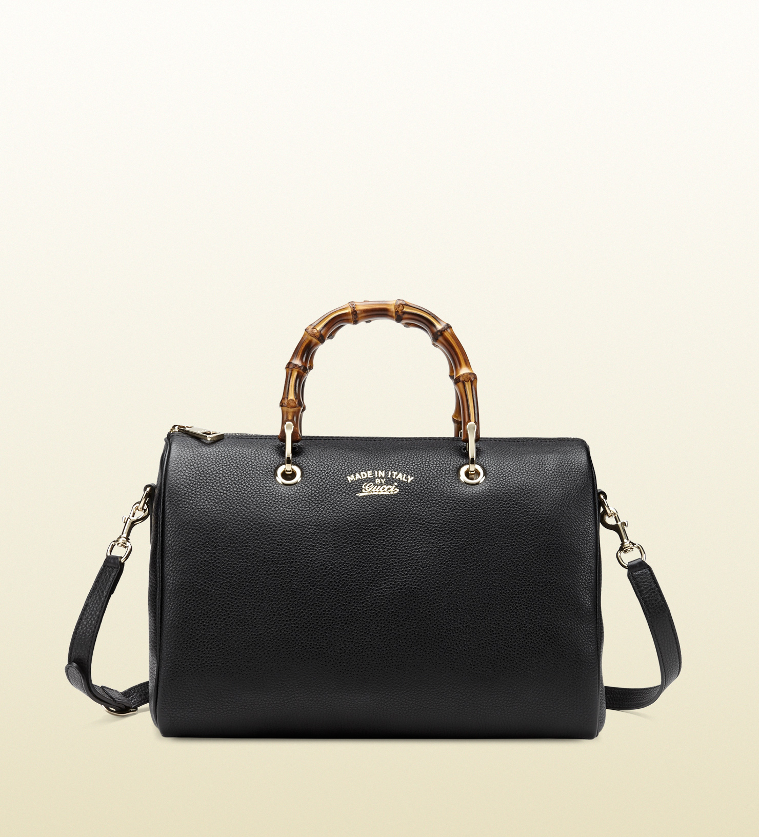 Gucci Bamboo Shopper Leather Boston Bag in Black (bamboo) | Lyst