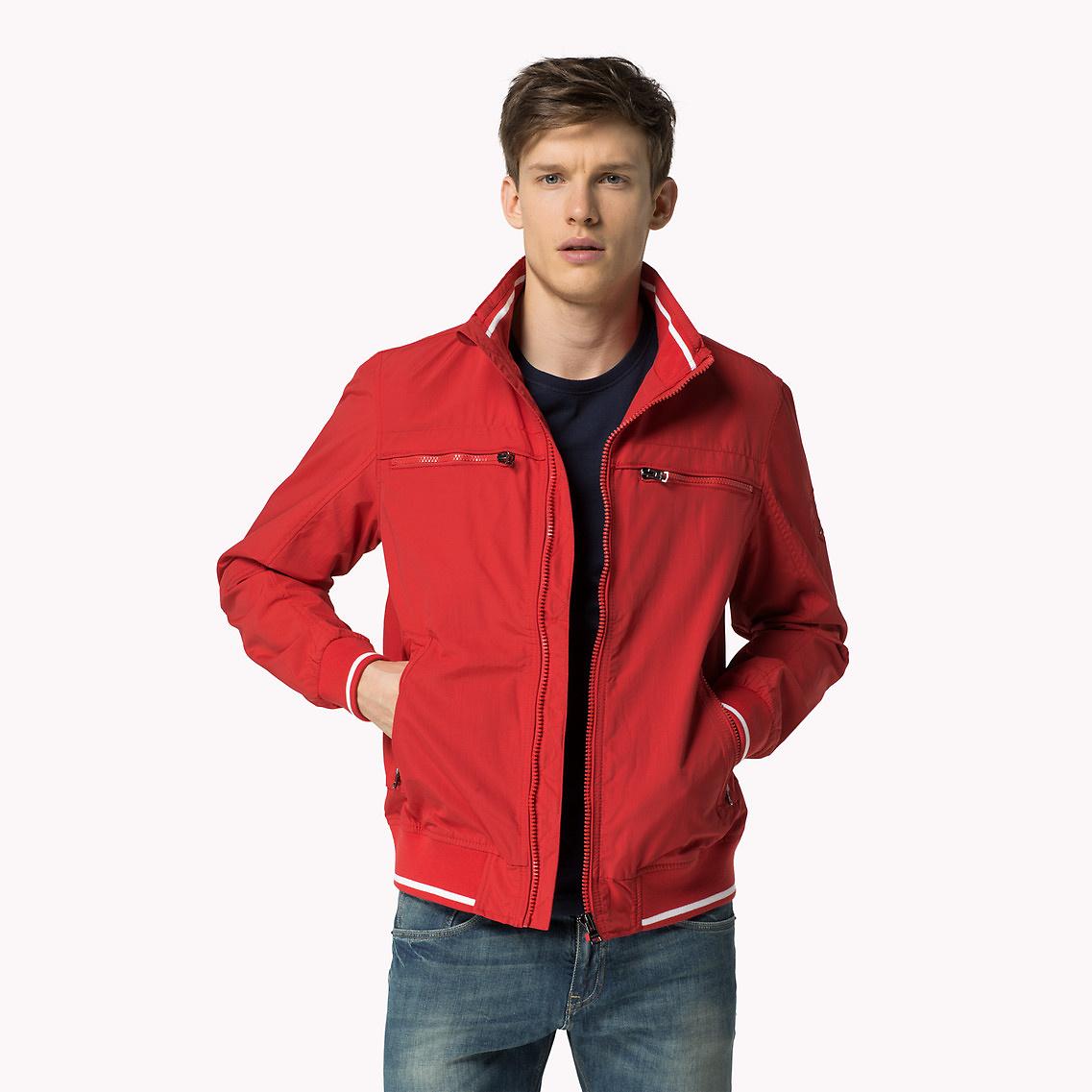 tommy hilfiger new matt bomber jacket in red for men lyst. Black Bedroom Furniture Sets. Home Design Ideas