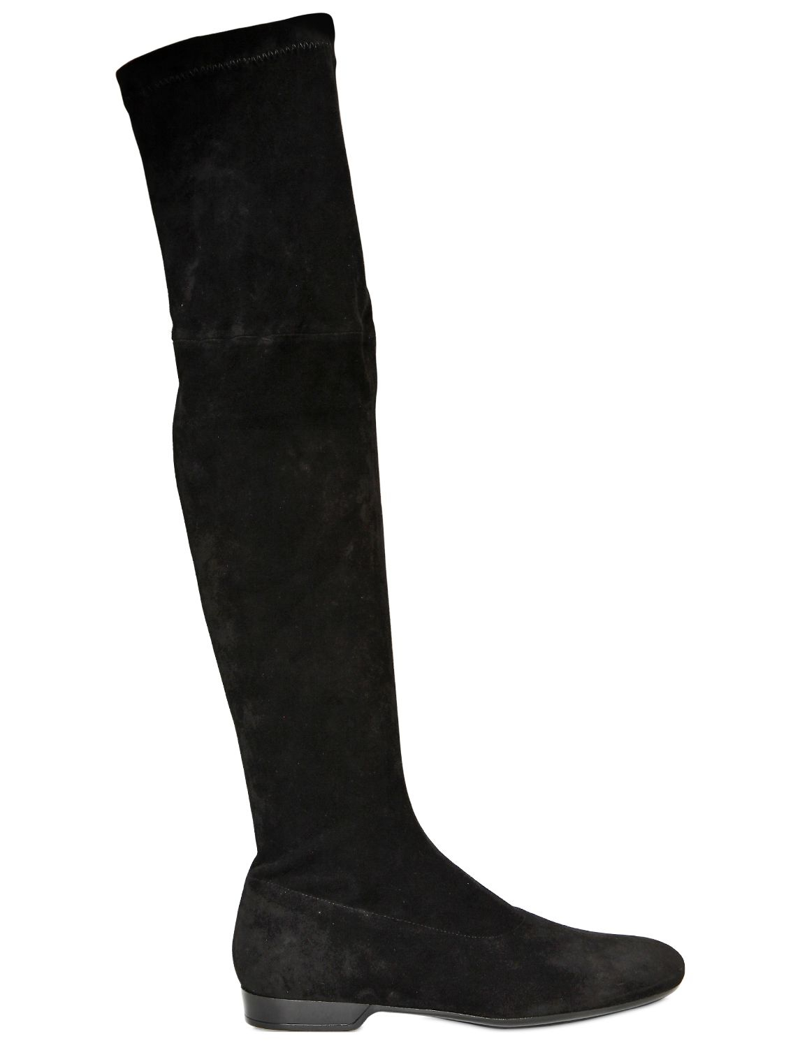 robert clergerie 20mm suede stretch boots in black lyst