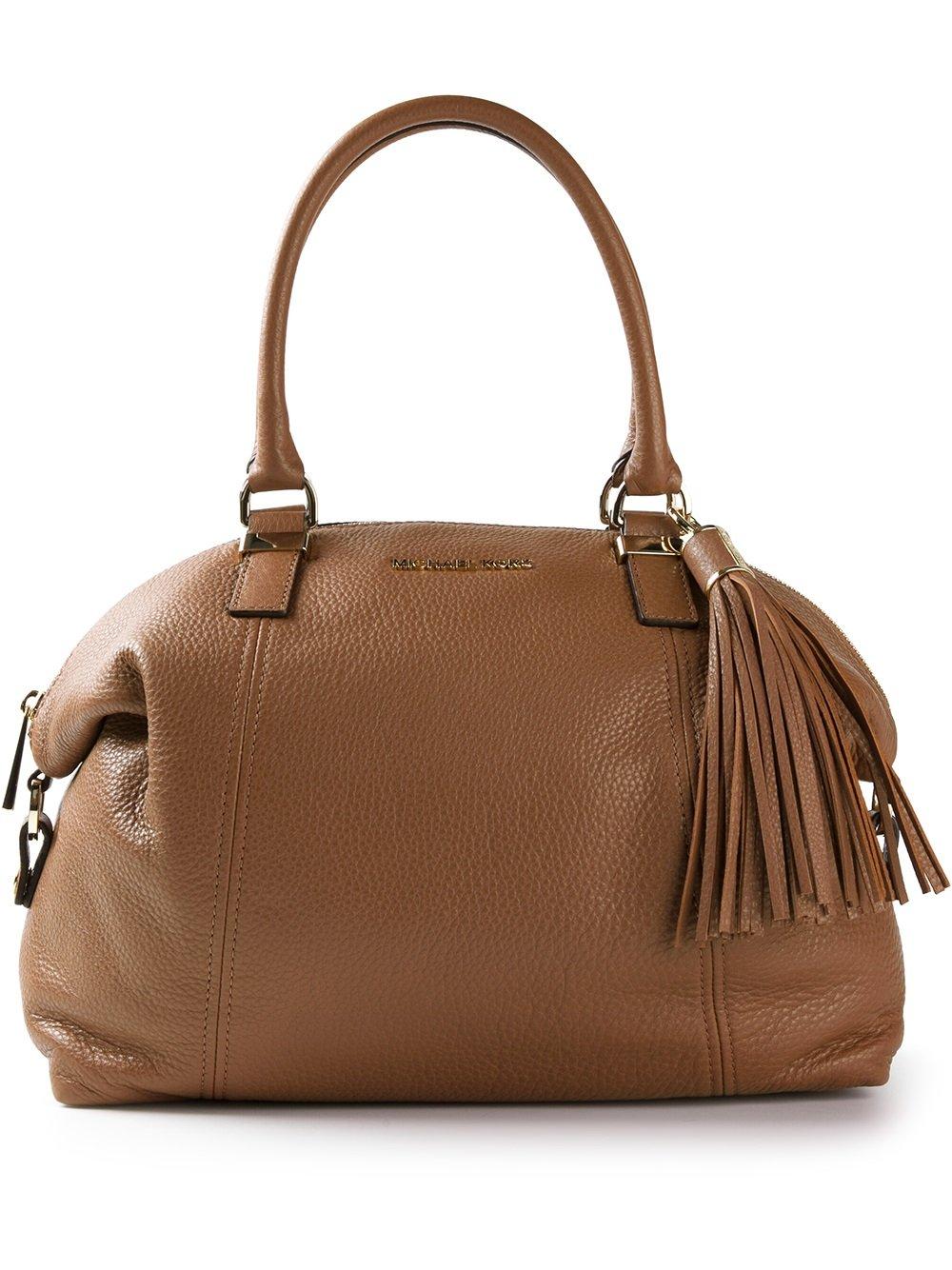 Lyst - Michael Michael Kors Tassel Shoulder Bag in Brown