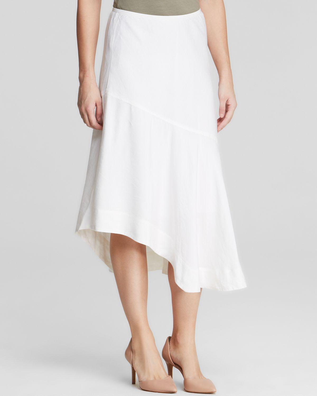 nic zoe nic zoe asymmetric midi skirt in white paper