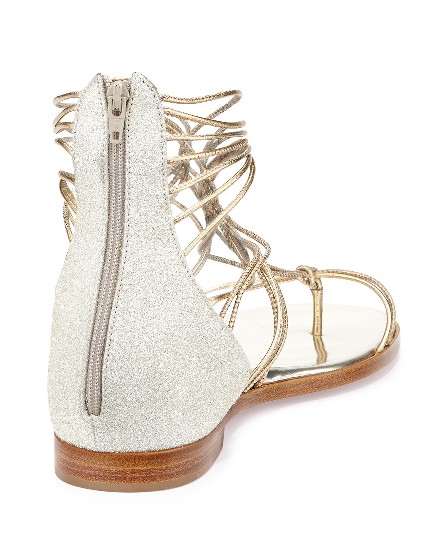 ccc5b70ed2a0 Lyst - Christian Louboutin Blanca Metallic Gladiator Sandal in Metallic
