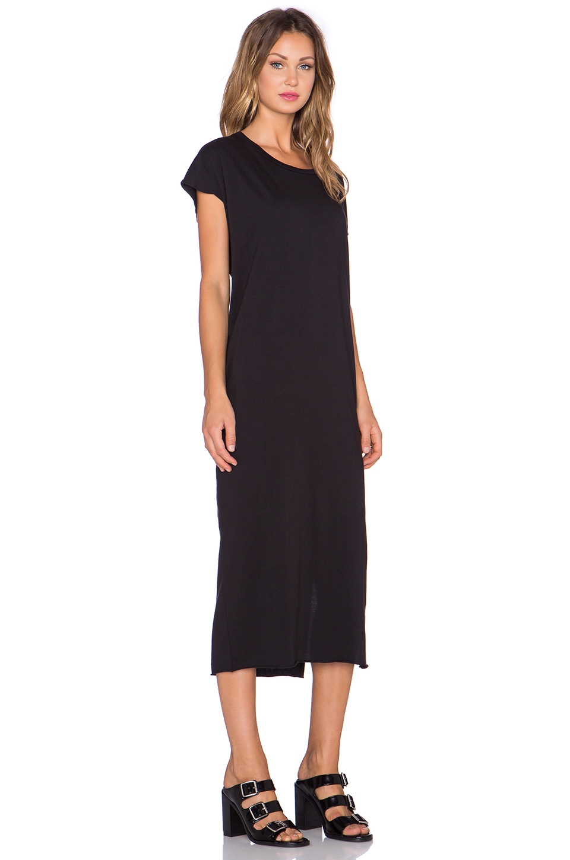 Oak Woman Asymmetric Cotton-jersey Dress Black Size S OAK gUSEBEabPY
