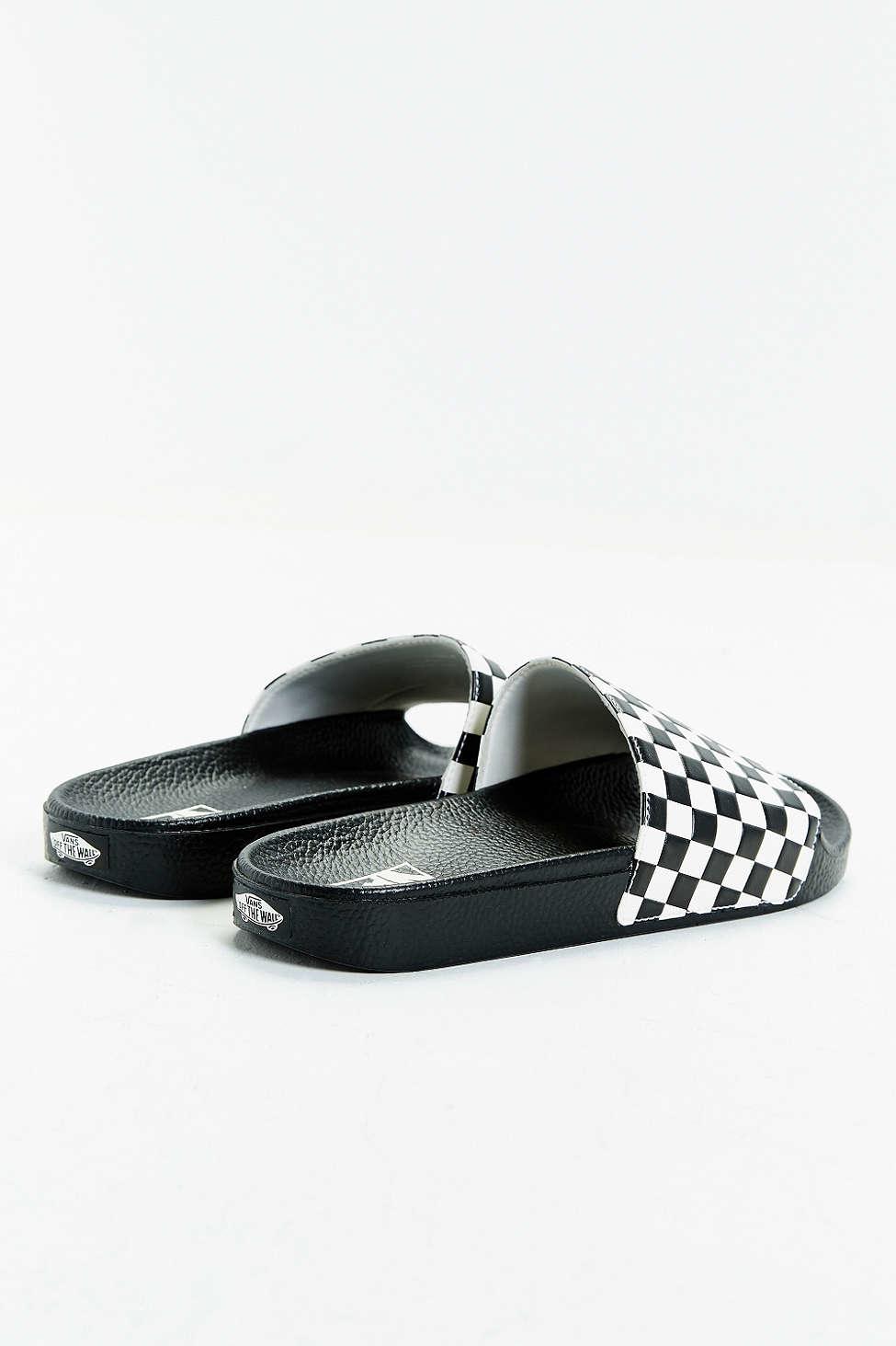 536c0ebb0 Lyst - Vans Slide-on Checkerboard Sandal in White for Men