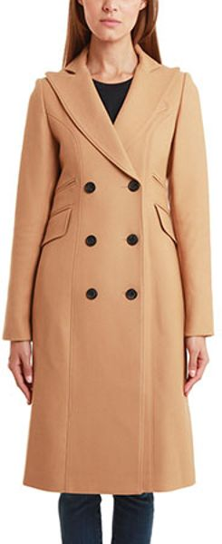 Smythe Reefer Coat in Beige (camel) - Lyst