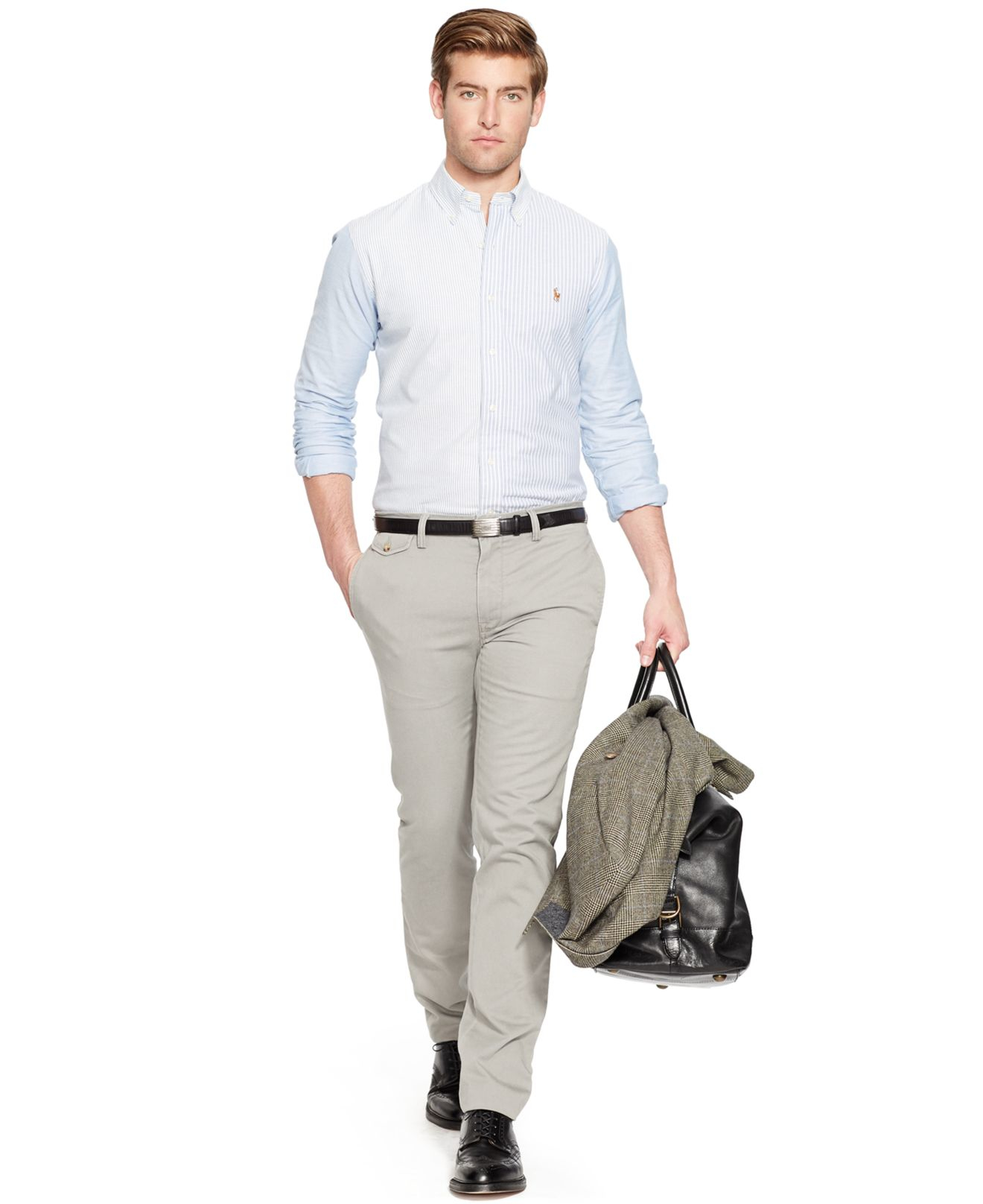 Lyst Polo Ralph Lauren Slim Fit Bedford Chino Pants In