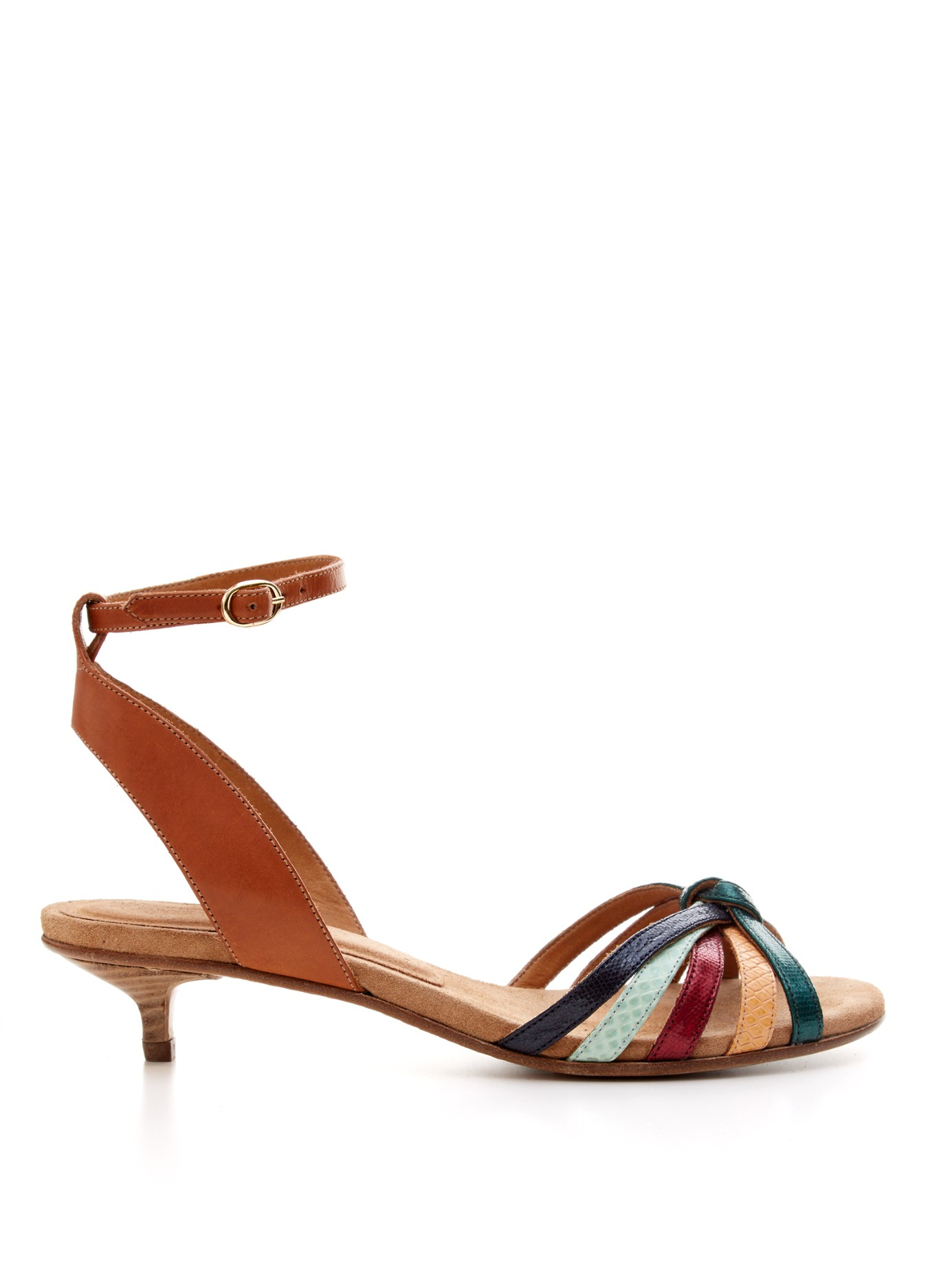 Lyst Isabel Marant Pulse Leather Sandals In Brown