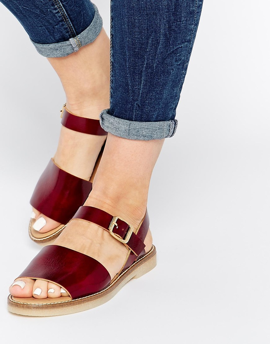 f1117df0939c9 Lyst - ASOS Faraz Two Part Crepe Sole Sandals in Brown