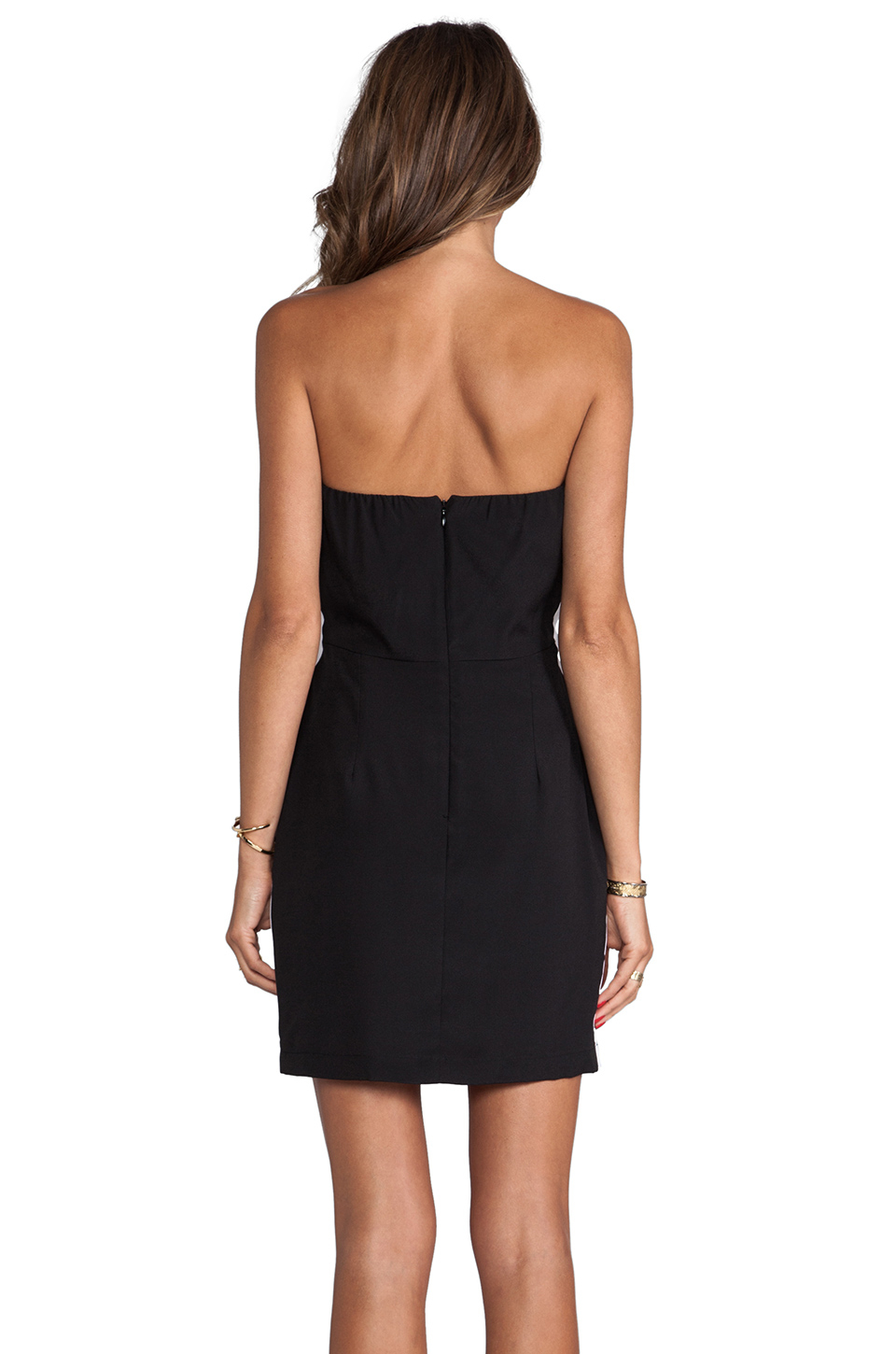 4809fe8978 Lyst - Naven Neon Collection Sporty Tube Cutout Dress in Black in Black