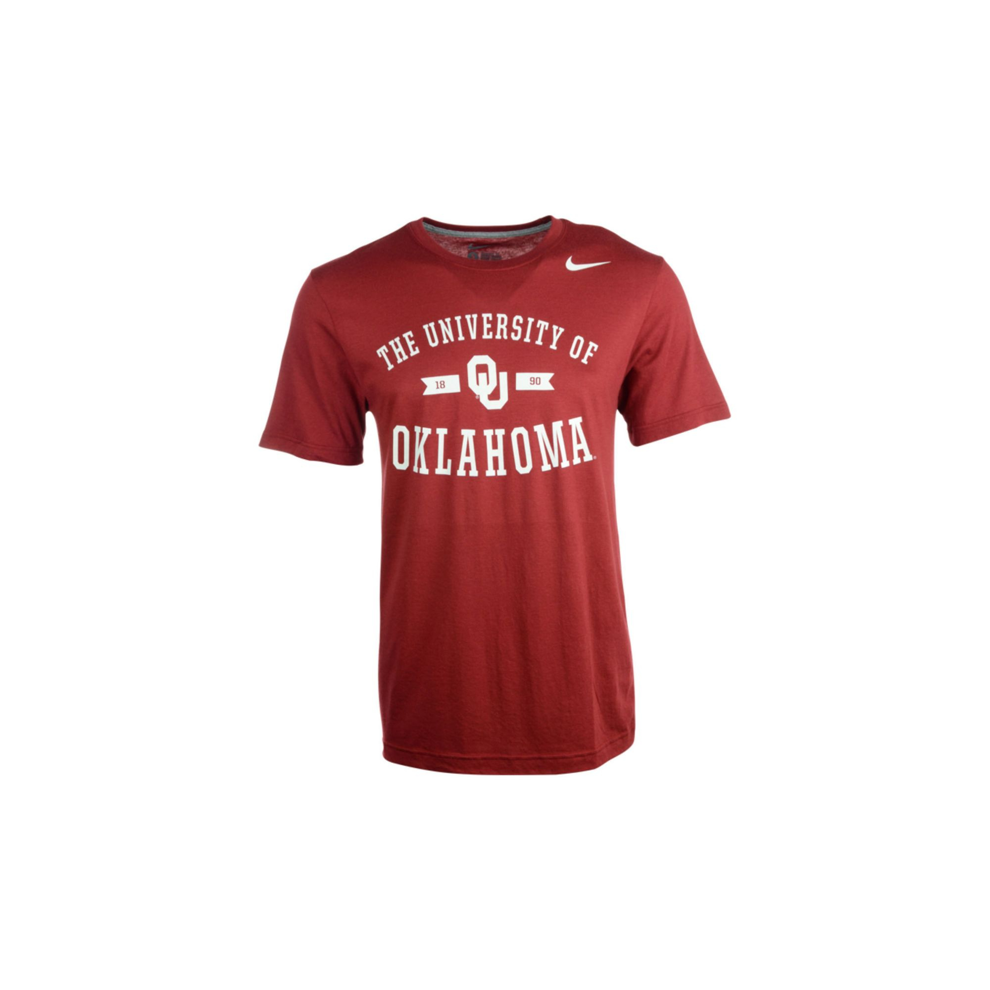 Nike Mens Shortsleeve Oklahoma Sooners Tshirt In Red For