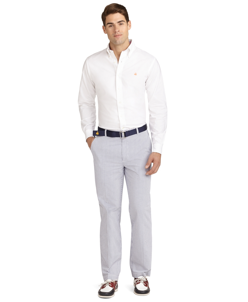 Boat Shoes White Pants