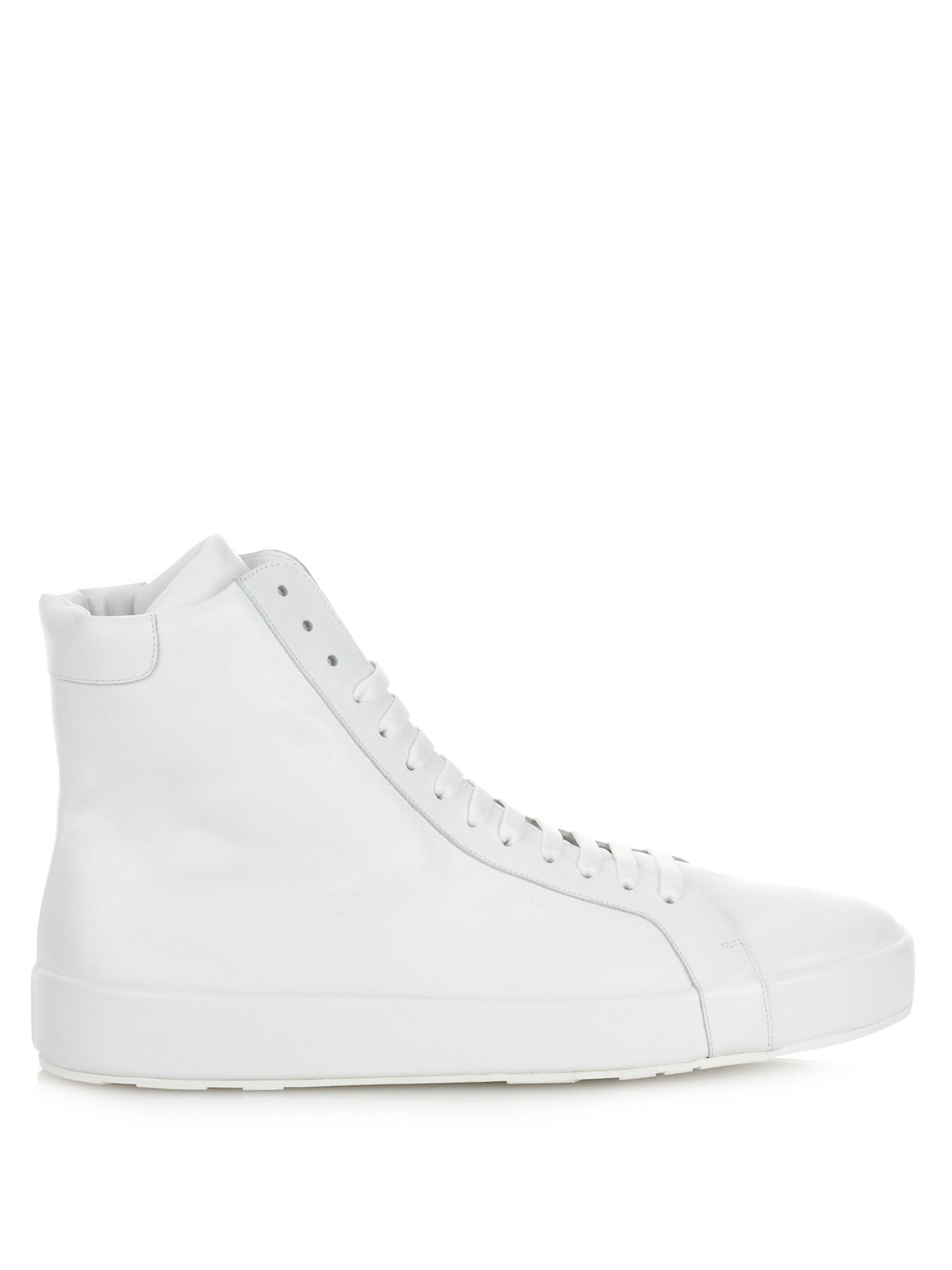 Jil Sander Leather High Trainers