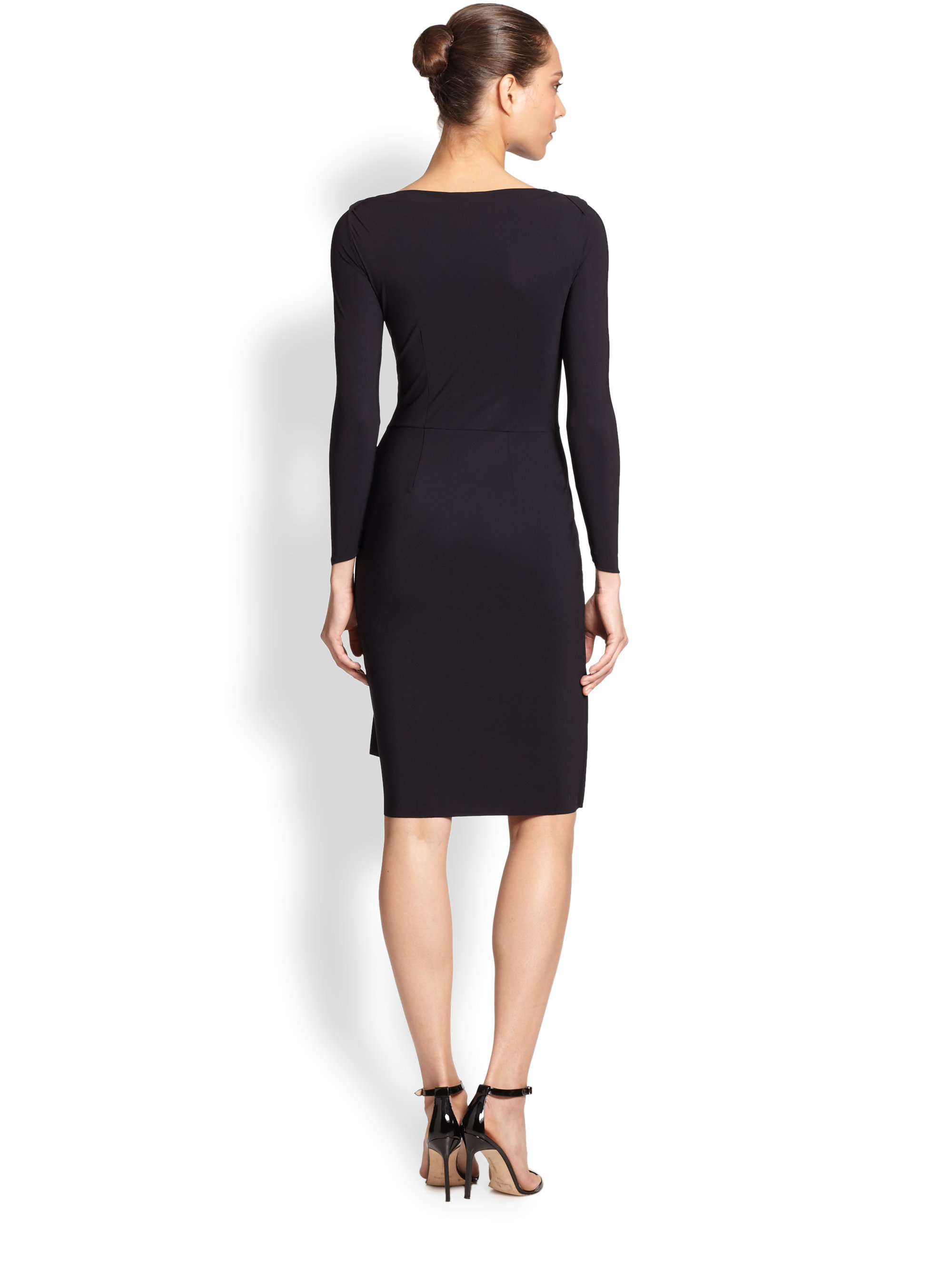 2c6f21c6d93 La Petite Robe Di Chiara Boni Long-sleeve Cocktail Dress in Black - Lyst