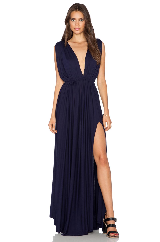 Lyst Bobi Modal Jersey Plunge Neck Maxi Dress In Black