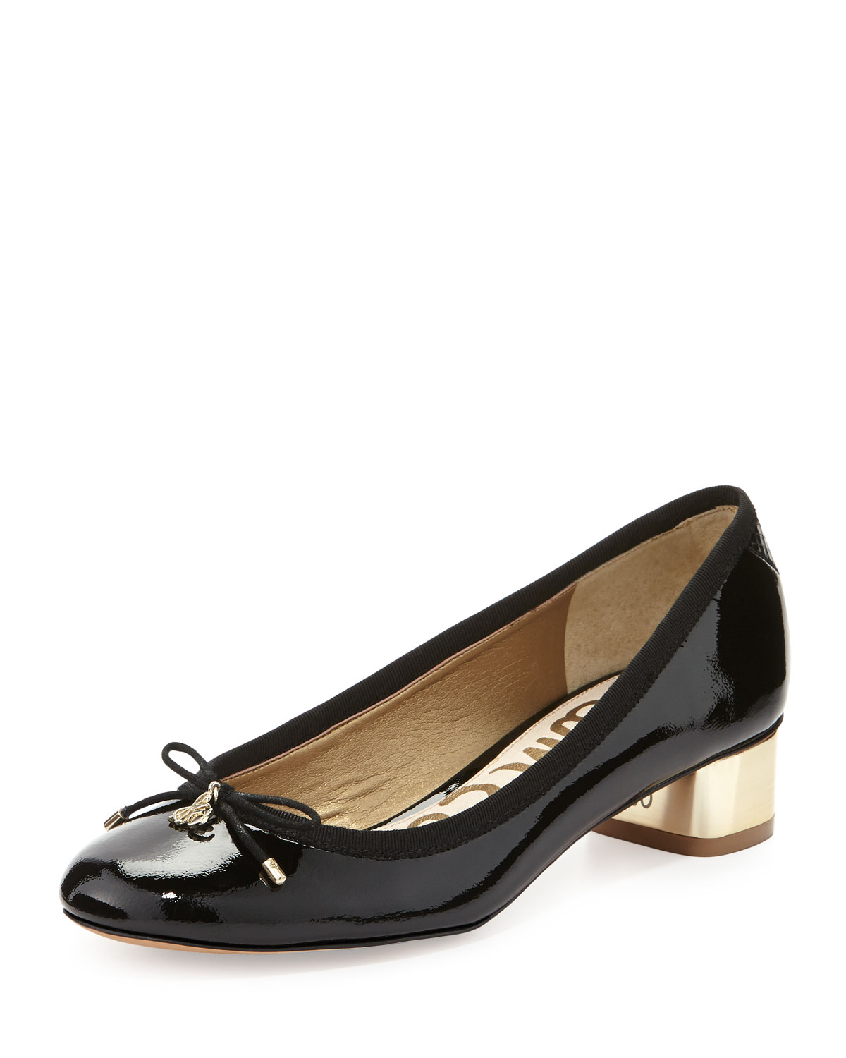 Black Leather Driving Shoes With Bow