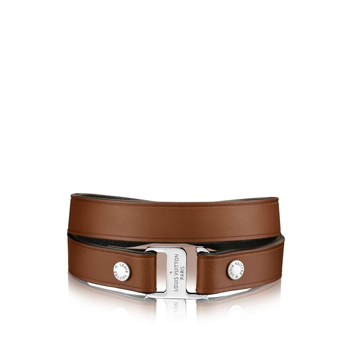 Louis Vuitton Snap It 12 Mm Bracelet In Brown For Men